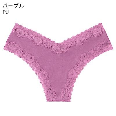 aimerfeel 淑女清爽肌棉質半臀內褲-紫色