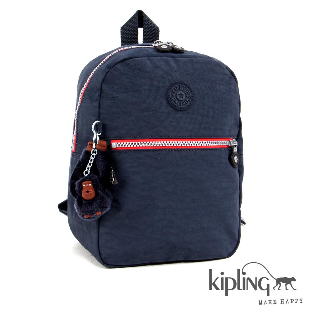 Kipling後背包深夜藍素面