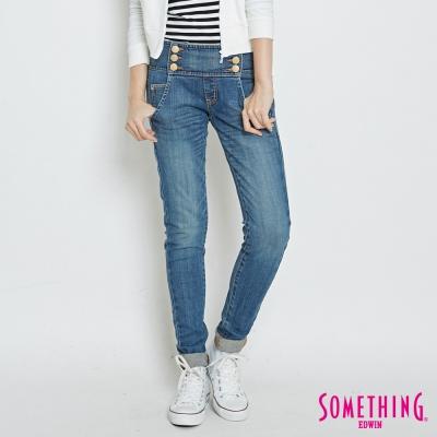SOMETHING MEIDUSA 雪晶伸縮水兵褲-女-中古藍