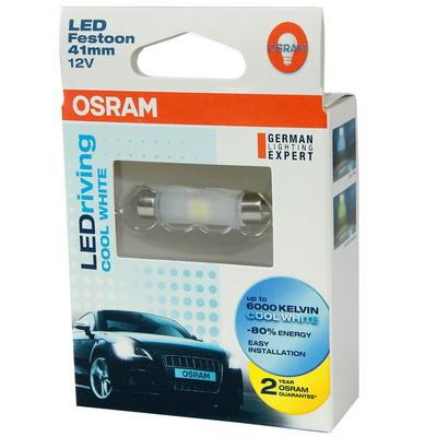 OSRAM LED 41mm 汽車室內燈(2入)公司貨