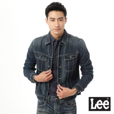 Lee 牛仔Vintage Laundry 外套-男款-深藍