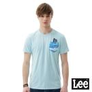 Lee 短袖T恤 海浪水藍色口袋短袖圓領TEE/RG-男款-藍