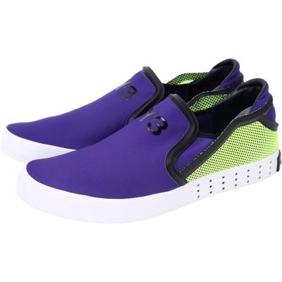 Y-3 LAVER SLIP-ON 撞色拼接休閒便鞋(紫色)