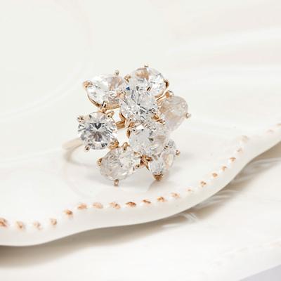 e.m.日本空運~華麗推疊 多款復古晶鑽抓鑲925純銀戒指