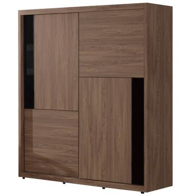 品家居 瑞琪兒4.9尺推門衣櫃(兩色可選)-146x60x207cm-免組