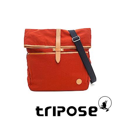 tripose 輕量防潑水機能反折設計多way包 -橘