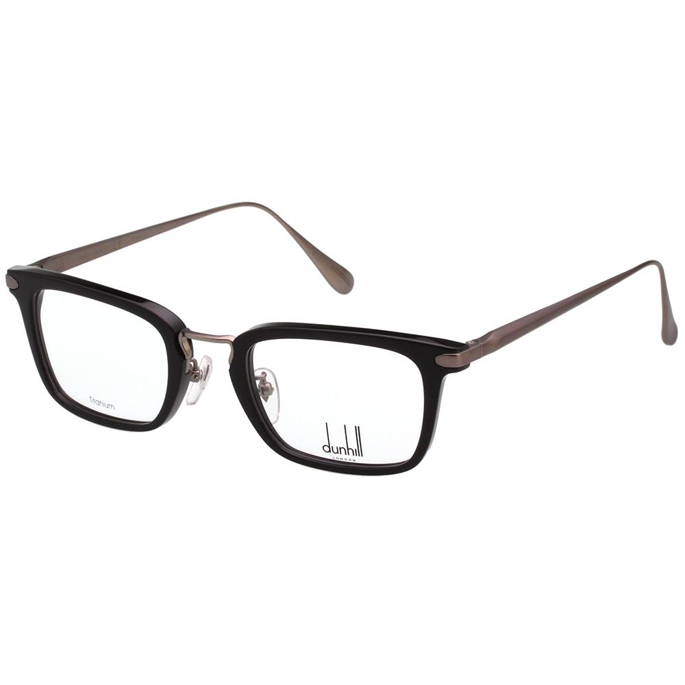 Dunhill 純鈦 光學眼鏡 (黑+槍色)VDH039