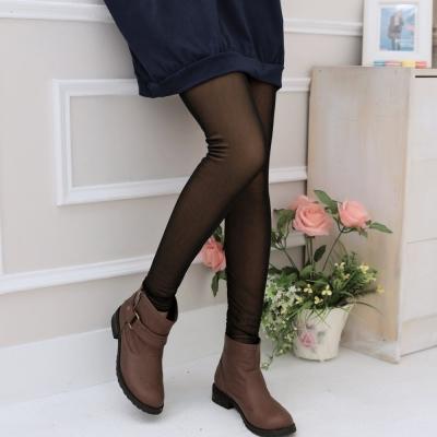 La Belleza保暖美腿襪雙層透膚網絲襪內搭褲