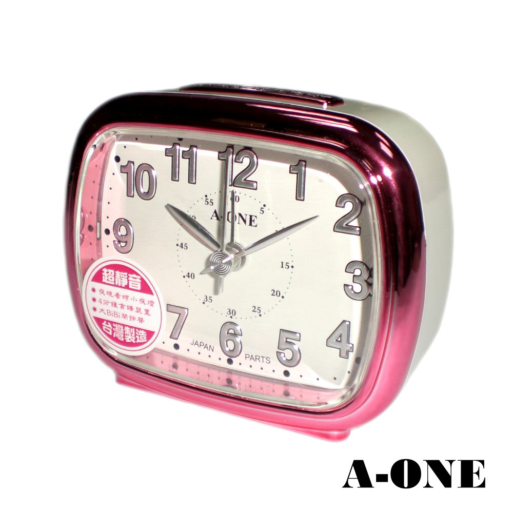 A-ONE 精巧型夜光面板靜音掃描鬧鐘