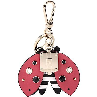 FURLA ALLEGRA 皮寶石瓢蟲造型皮革吊飾/鑰匙圈