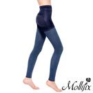 Mollifix 3D極型拉提直紋9分塑身褲 (水洗丹寧)