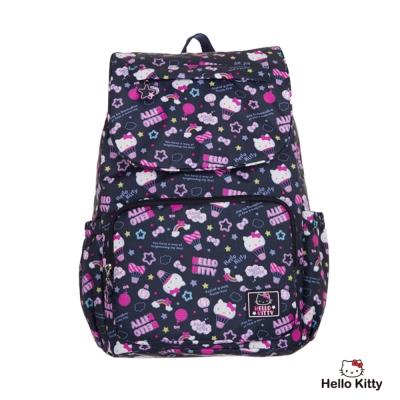 Hello Kitty-悠遊星空系列- 後背包-大-深藍色-KT01Q05NY