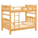 愛比家具 利亨3.5尺檜木色雙層床(不含床墊)