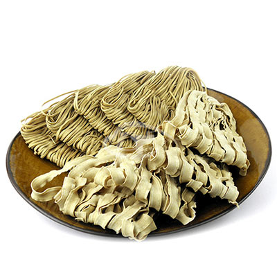 台南莊記 手工黃金蕎麥麵( 1200 g)+波浪麵( 900 g)組合