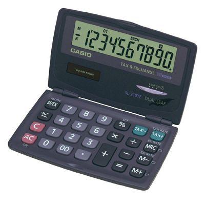 CASIO 10位數掀蓋式口袋型計算機(SL-210TE )