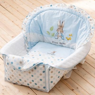 [買1送1] 奇哥 花園比得兔攜帶型小床組-藍色