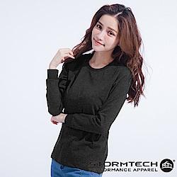 【加拿大STORMTECH】CT-2W 超輕柔純棉上衣-女-碳灰