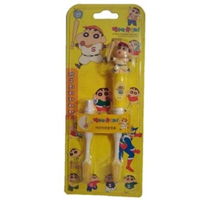 韓國英佑Atex 蠟筆小新兒童抗菌牙刷-雙刷頭(立體棒球服裝造型)