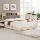 群居空間 艾貝利5尺白橡被廚式雙人床組-(床頭箱+抽屜床底)-不含床墊
