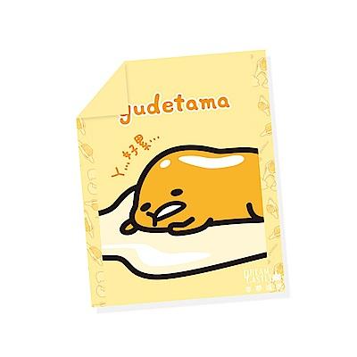 享夢城堡 單人涼被4x5-蛋黃哥gudatama 慵懶生活-黃