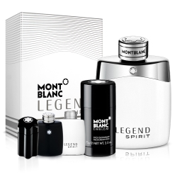 Mont Blanc萬寶龍 傳奇白朗峰男仕淡香水100ml+體香膏+小香x1(隨機)