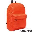 美國K-CLIFFS 螢光系列雙肩後背包 螢光橘
