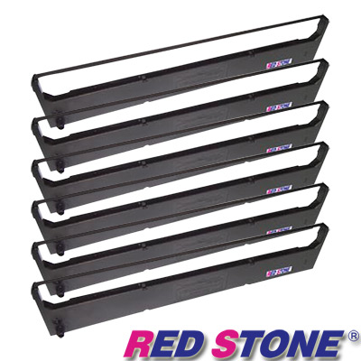 RED STONE for SEIKOSHA SBP-10 LP7000S黑色色帶(1組6入)