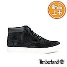 Timberland 男款黑色皮革戶外休閒鞋