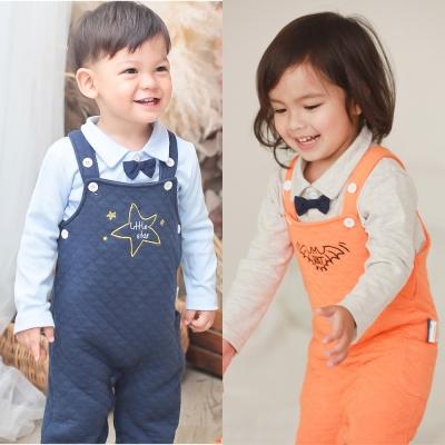 baby童衣 兩件式領結上衣搭吊帶褲 70001