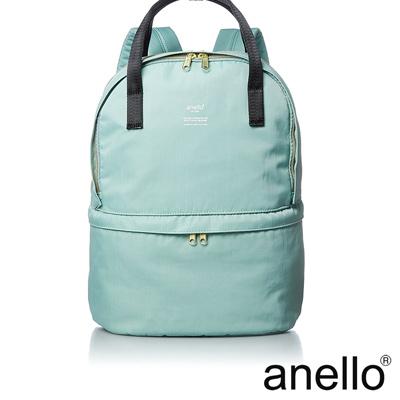 anello 機能型上下雙層後背包 薄荷綠