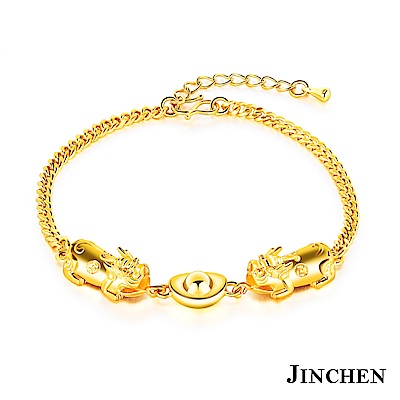 JINCHEN 銅鍍金貔貅元寶手鍊