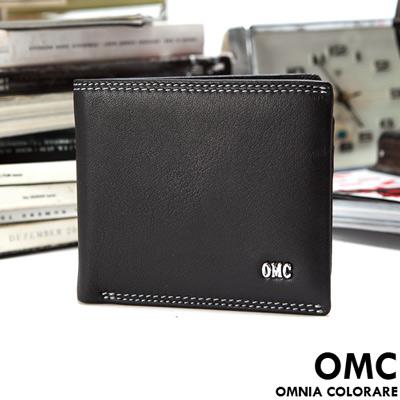 OMC - 韓國柔軟羊皮款真皮7卡3照左右翻短夾