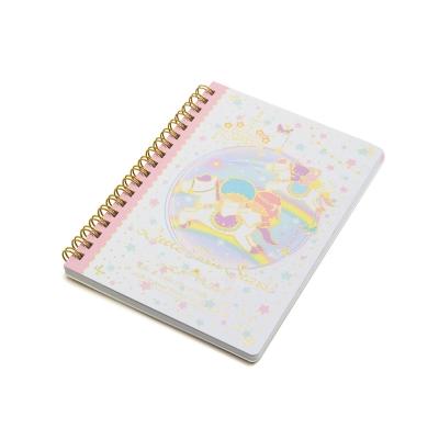 Sanrio 雙星仙子40週年快樂紀念日系列B6線圈筆記本(彩虹木馬)