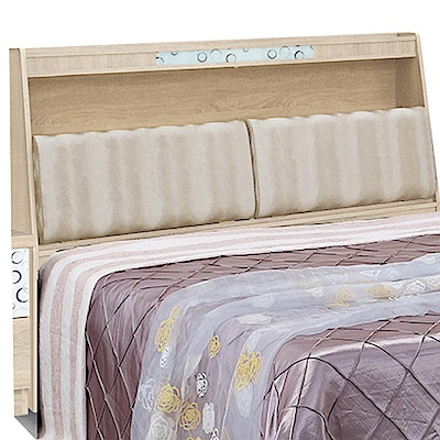 品家居 華德5尺木紋皮革雙人床頭箱(二色可選)-153x30.5x122.5cm免組