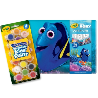 美國crayola海底總動員小畫家禮盒組5Y含色筆蠟筆色鉛筆畫簿