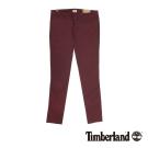 Timberland 女款酒紅色素面斜紋棉休閒長褲