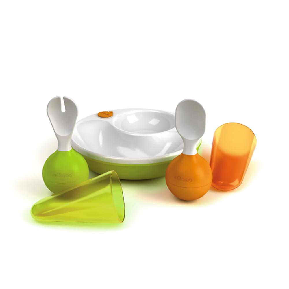 義大利mOmma 保溫餐盤學習禮組-綠色