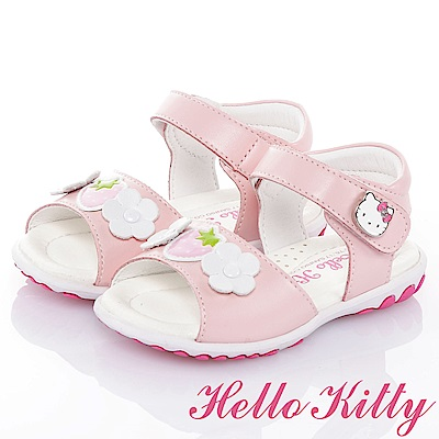 HelloKitty草莓系列 手工鞋牛皮超纖減壓防滑涼鞋童鞋-粉