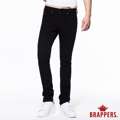 BRAPPERS 男款 HM中腰系列-中腰彈性直筒褲-黑