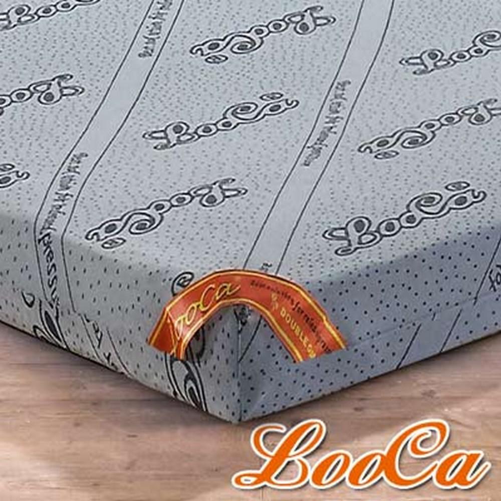 LooCa 養生竹炭紗全平面8cm記憶床墊-加大6尺