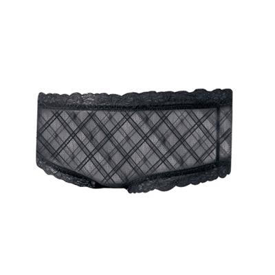 【曼黛瑪璉】捧胸bra─擁抱款  超低腰平口蕾絲褲(黑)