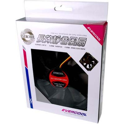 EVERCOOL勁冷超頻家族12公分長效靜音系統風扇厚度25mm