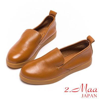 2.Maa真皮系列-Toms風格牛皮樂福便鞋-棕