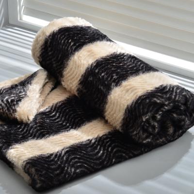 波紋圖騰 超柔立體雕毛珍珠絨毯