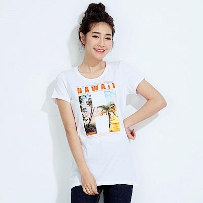 101原創 專屬假期短袖T恤上衣-白