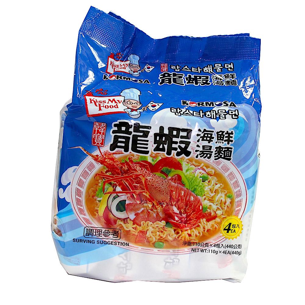 韓寶KORMOSA 龍蝦海鮮湯麵(110gx4入)