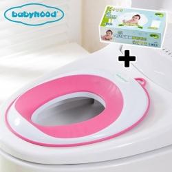 baby hood 兒童輔助座便圈+Nac Nac 乾式嬰兒超柔細紗布毛巾*1盒