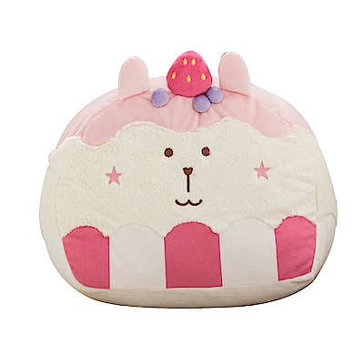 CRAFTHOLIC 宇宙人 草莓甜心兔造型靠枕