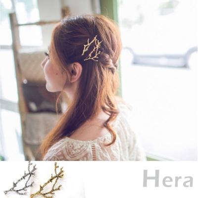 Hera 赫拉 復古森林系樹枝邊夾/髮夾/一字夾-兩色
