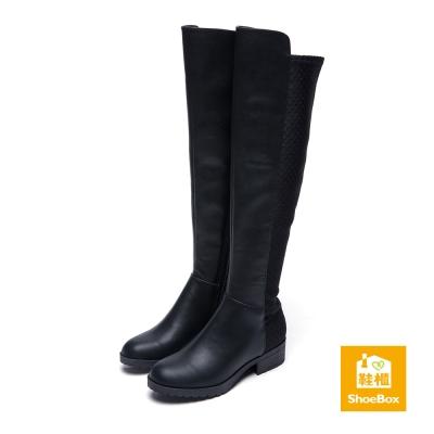 達芙妮DAPHNE-ShoeBox系列-長靴-異材